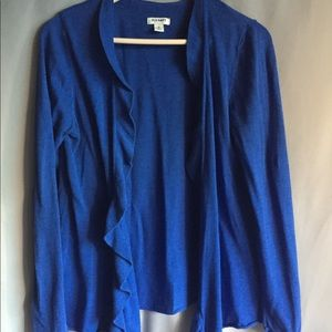 Old Navy Blue ruffle front Cardigan